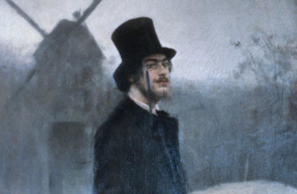 Erik Satie 1891, gemalt von Ramon Casas